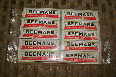 "Vintage Factory Sealed Package ""beemans Chewing Gum"" (20 Packs) Dated 1993 Candy"