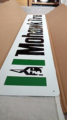 Vintage Mohawk Tires Sign - Embossed Sharp Looking - Nos!!