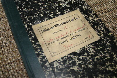 1927 Lehigh & Wilkes-Barre Coal Co. Contract Miners' Payroll Register Time Book