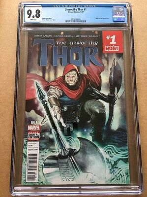 UNWORTHY THOR #1 (2017) CGC 9.8 (NM+/M) 1st Print Cover A BETA RAY BILL APP