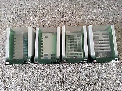 Lot of KATO Buildings DioTown 23-436, 23-437, 23-438 & 23-439 N Scale