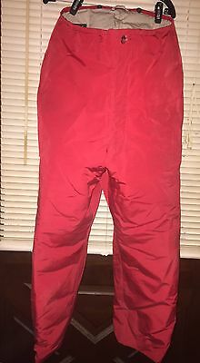 Eddie Bauer Expedition Outfitter Premium Goose Down Men's Red Pants 38x29 Hunt