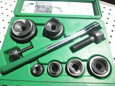 Greenlee  7238 Knockout Type Punch Set Complete Nice