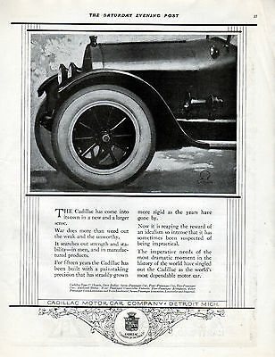 1918 Cadillac Car Ad --Strength & Stability----t695