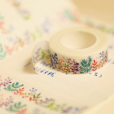 Popular Herbaceous Plant Washi Tape Masking DIY Decoration Scrapbooking Planner