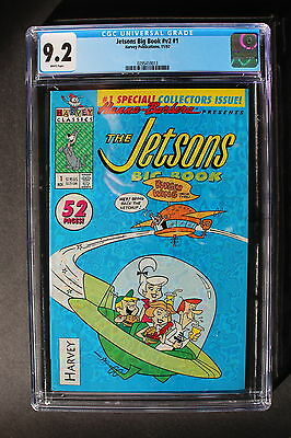 JETSONS BIG BOOK V2 #1 Harvey 1992 52 Pages Hanna-Barbera TV CGC NM- 9.2
