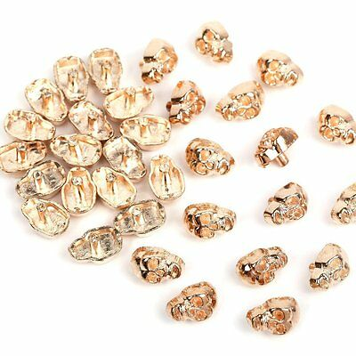 Gold Skull Metal Studs Spots Spike Rivets DIY Leathercraft 5mm x7mm