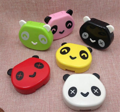 Lens Case Box Outdoor Panda Shape Travel Kit Storage Contact Container Holder