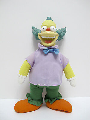 Krusty the Clown Plush Doll Figure Toy THE SIMPSONS 1993 Play by Play 11""
