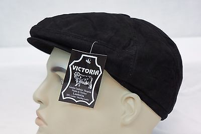 c2ba1205c83 LAMBSKIN SUEDE LEATHER Driving Cap Newsboy Ivy Hat Golf Gatsby Flat Cabbie  S-XL