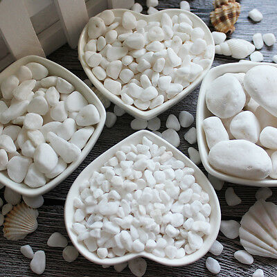 100g White Natural Decorative Stones Pebbles Aquarium Decoration Vase Garden