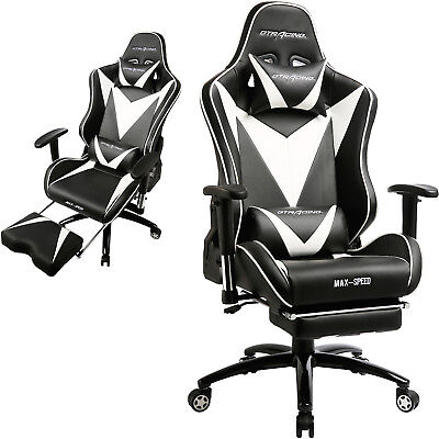 GTRacing PU Executive Gaming Chair Recliner Napping Office Desk With Footrest