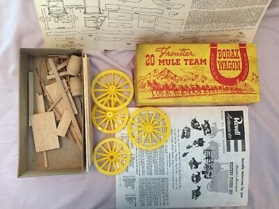 Frontier 20 MULE TEAM  BORAX Wagon Kit 1950's Appears Complete?? COOL BARRELS