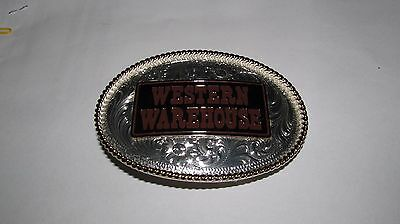 Like New Montana Silversmiths Collectible Western Warehouse Belt Buckle!!!!