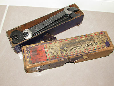 Antique Vintage 1930's Tapped Spanner Set & Original Box COLLECTABLE Tools