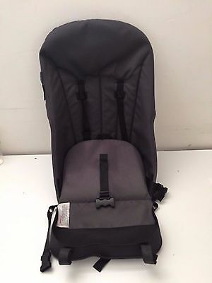 Bugaboo Cameleon Stroller Canvas Seat Toddler Base Charcoal Gray 5 point harness