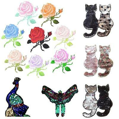 Wholesale Embroidered Flower Animals Iron On Sew On Patch Badge Applique Craft