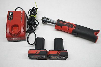 "Snap-on CTR725A 1/4"" Dr. 14.4V Cordless Ratchet Kit, Charger, 2 Batteries CTB817"