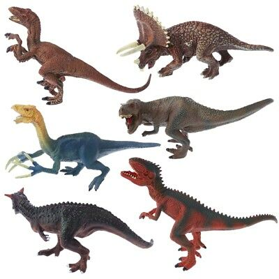 6 Types Dinosaur Toys Action Figure Model Kid Children Toy Gifts Plastic NEW