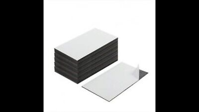 Brand New 100 Peel Self Adhesive Business Card Magnets