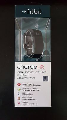 NEW Fitbit Charge HR Black (Small) Fitness Tracker Heart Rate HR Monitor