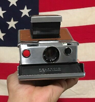 Polaroid Sx-70 Land Camera Tested And Works Read Description