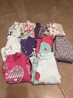 Toddler Girls 3T Pajama Lot - Carters - Gap - 10 Pairs