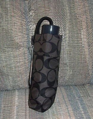 Coach Signature C Design Mini Umbrella-Black and Grey- New with Tags