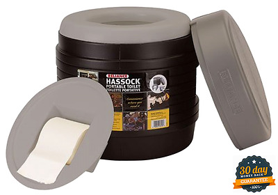 Compact Portable Travel Lightweight Self-Contained Toilet With Removable Bucket