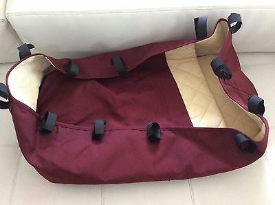 BUGABOO Frog Bassinet Maroon Canvas Fabric Carrycot baby newborn Cameleon red