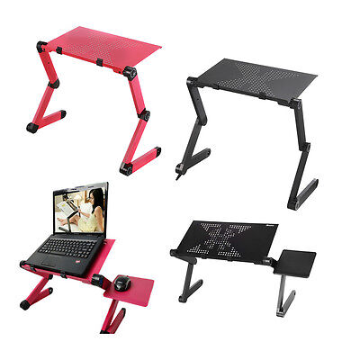 360° Adjustable Foldable Aluminum Laptop Desk Bed Table Stand Notebook Tray