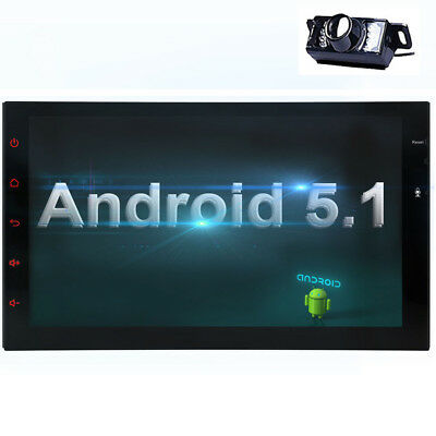 7'' Android 5.1 3G WiFi Double 2DIN Car Radio Stereo No DVD Player GPS HD+Camera