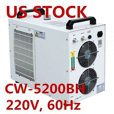 US S&A 220V CW-5200BH Industrial Water Chiller for 8KW Spindle / Welding Machine