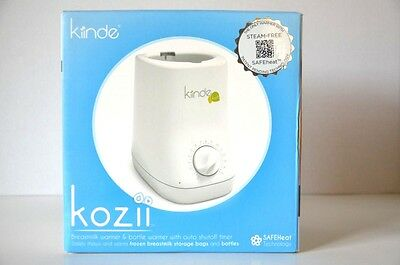 Kiinde Kozii Baby Nursing Breast Milk & Bottle Warmer Steam Free Open Box NEW