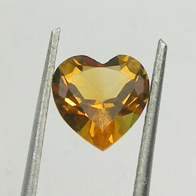 Heart Shape Orange Color Natural Citrine Loose Gemstone, 7x7mm, 8x8mm Shape