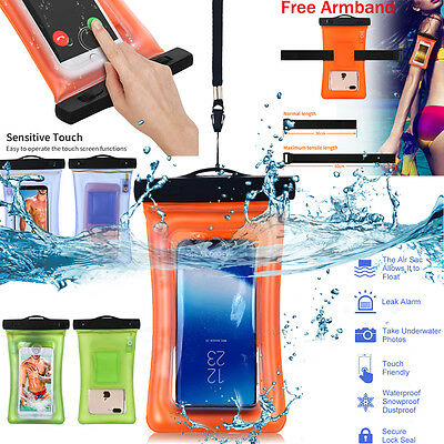Waterproof Floating Phone Case Dry Bag Pouch W/Strap Fr iPhone 6 7 Plus Samsung