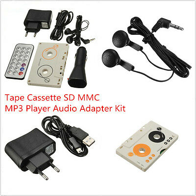Car SUV Telecontrol Tape Cassette SD MMC Card MP3 Player Audio Stereo Remote Kit