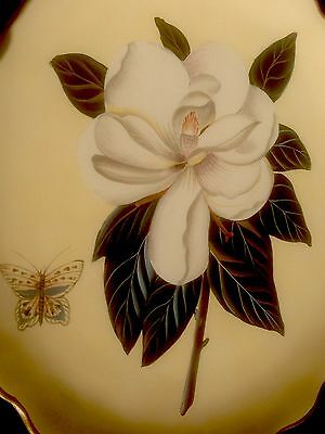 Raymond Waites Hand Painted Interior  Design Floral / Butterfly Art Plate / Toyo