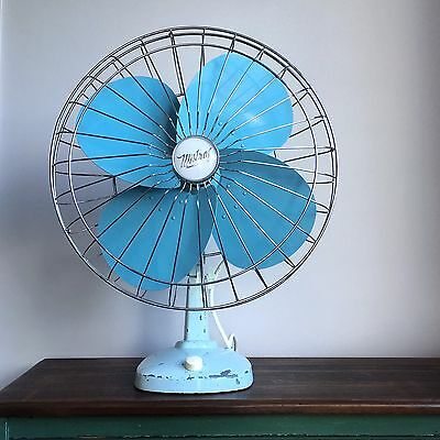 Electric Desk Fan Vintage Mistral