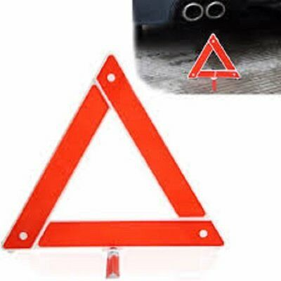 Car Emergency Breakdown Warning Triangle Red Reflective Safety Hazard Travel Kit