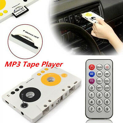 Car Telecontrol Tape Cassette SD MMC MP3 Player Audio Adapter&Remote Control Kit