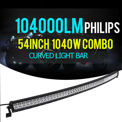 OSRAM 800W 42INCH Curved LED Work Light Bar Combo Fog Driving 4WD SUV Truck 44""