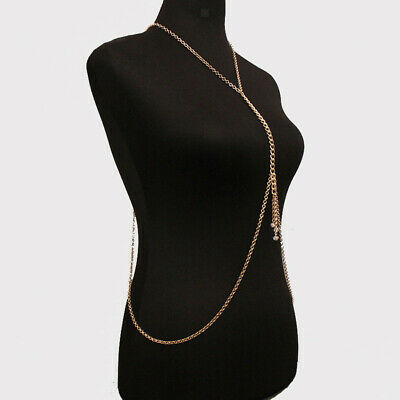 Elegant Body Chain Jewelry Bikini Waist Belly Beach Harness Slave Necklace