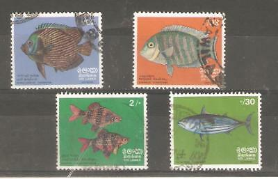 1972   Sri Lanka - Fish - Sg  594 / 597 - Used