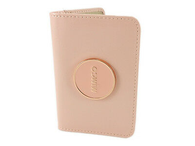 Mimco card wallet blush pink patent leather with rose gold