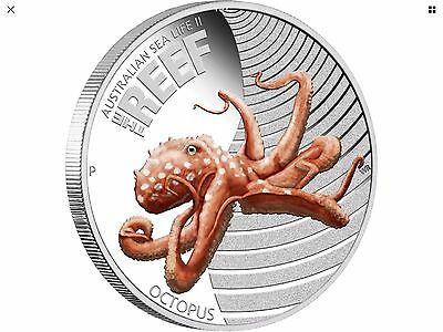 1/2 oz Silver Australian Sea Life 2 Octopus Perth Mint