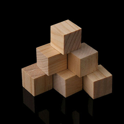Square Wooden Beads Handmade Baby Toy Natural Wood Cube Home Decor