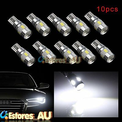 10Pcs T10 W5W 5630 6 SMD Parking HID White CANBUS Car Auto LED Light Bulb Lamp