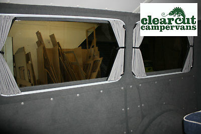 3 x VW T5 SWB/LWB Barndoor Campervan - Black Out Curtains,  Pre-shaped Tracks