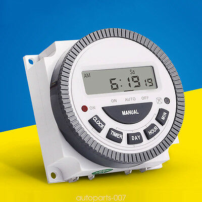 Digital LCD Power Programmable Timer Switch Relay Weekly TM619 AC 220V 4 Pin as0
